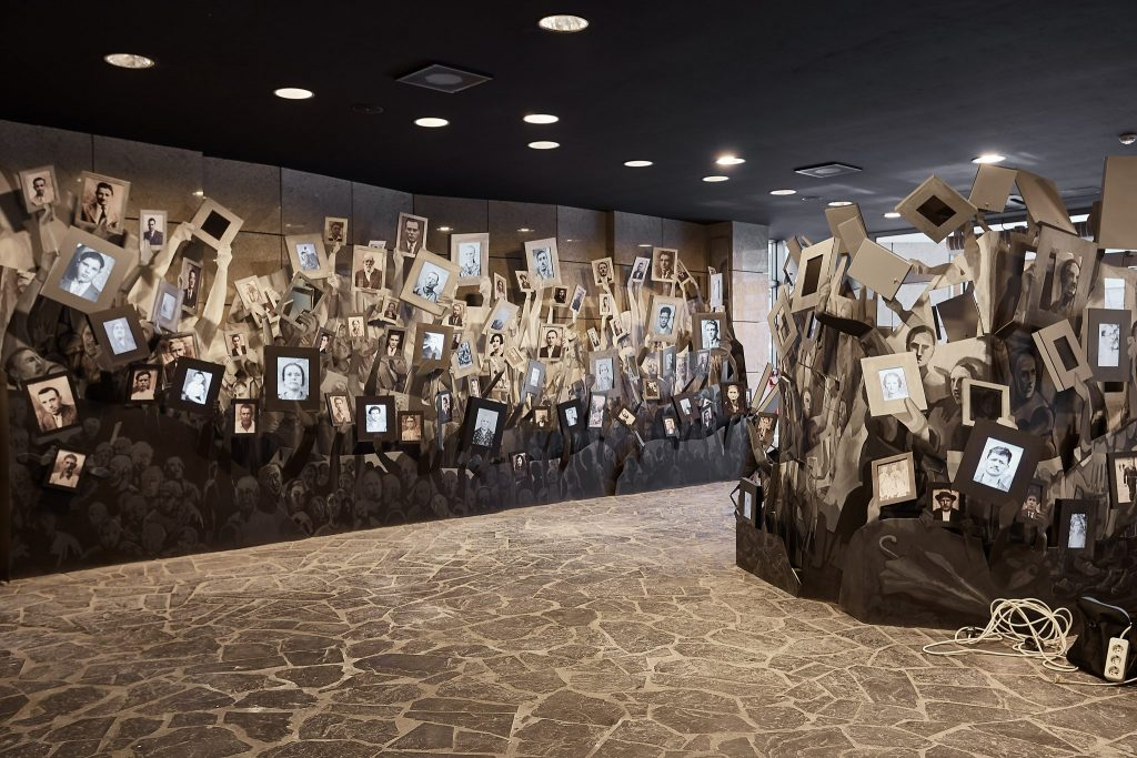Face Exhibit in the Holocaust Memorial Centre in Skpoje, Macedonia. Designed by Berenbaum Jacobs Associates